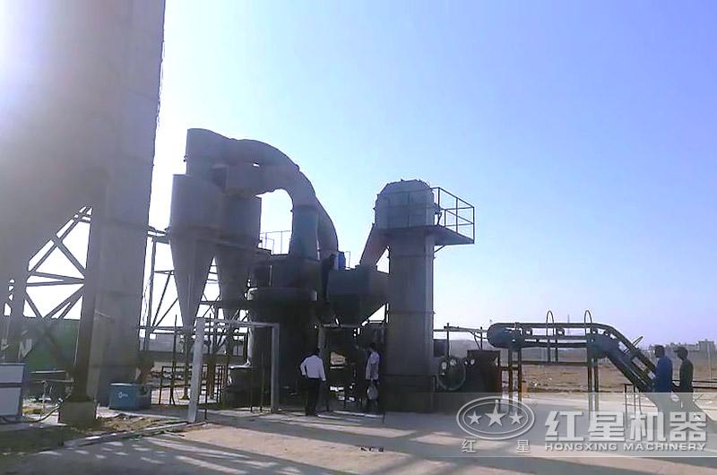 户外磨粉机生产线作业