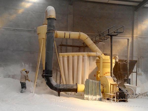 高压悬辊磨粉机加工现场