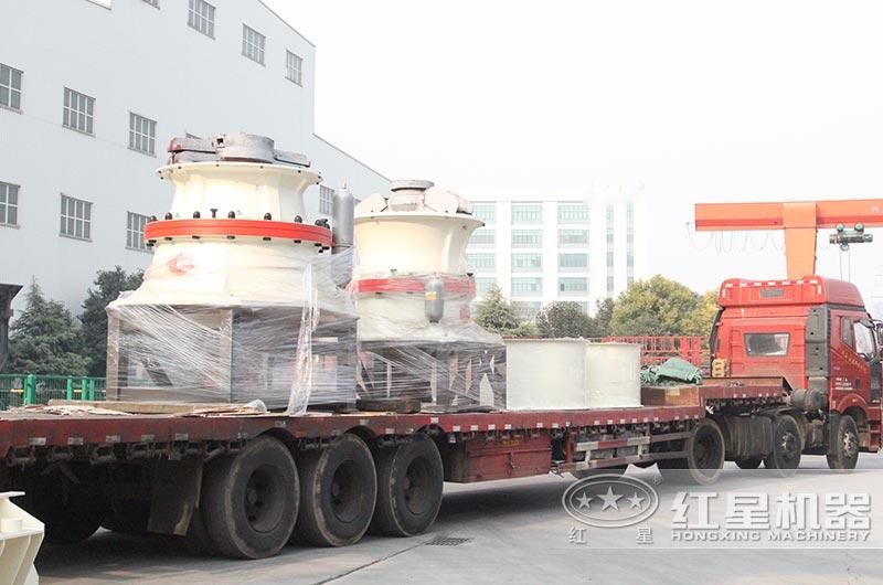 红星机器立式打沙机发往广东清远