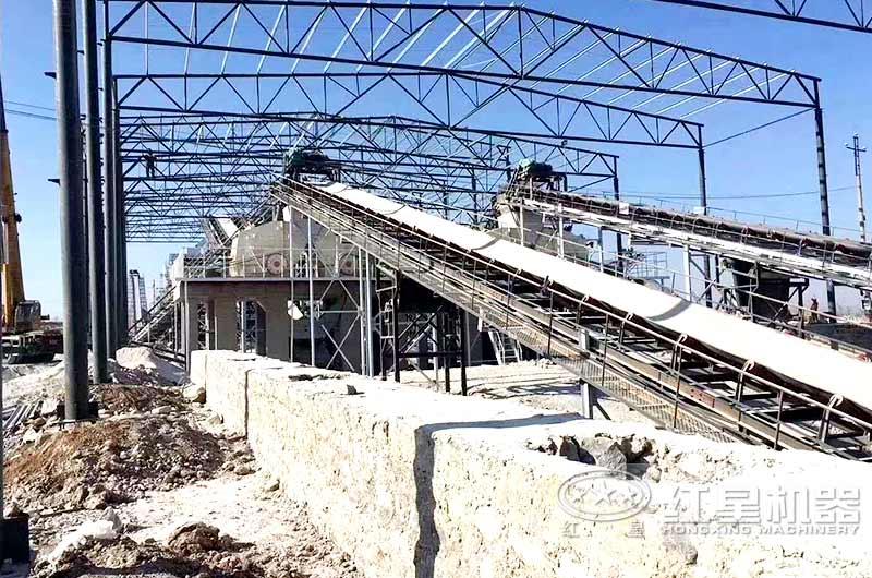 时产800吨固定石子生产现场
