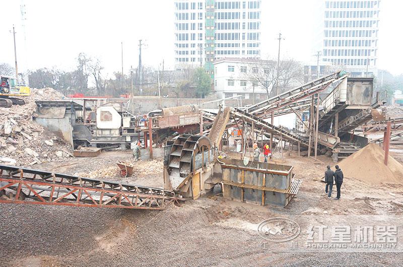 混凝土废料再利用项目用户现场