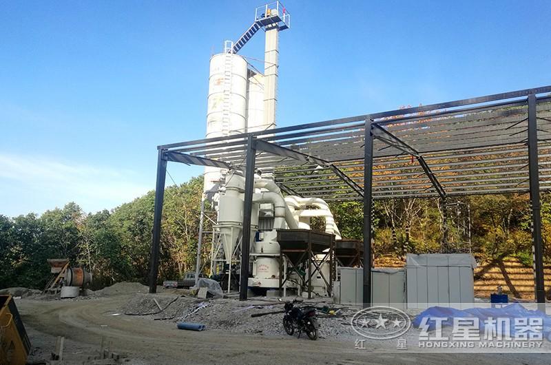 中小型磨石粉机器用户现场