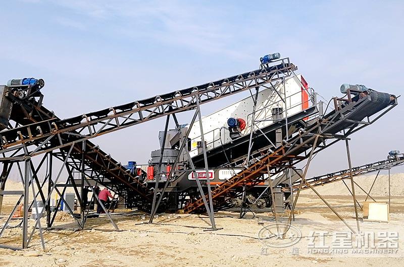 移动筛沙子机器