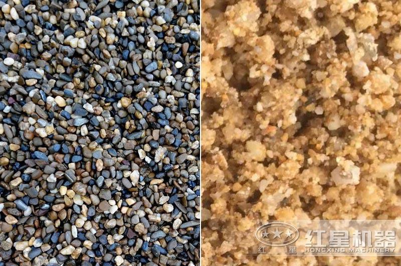 河卵石制砂效果展示