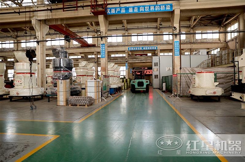 红星立式磨粉机生产车间