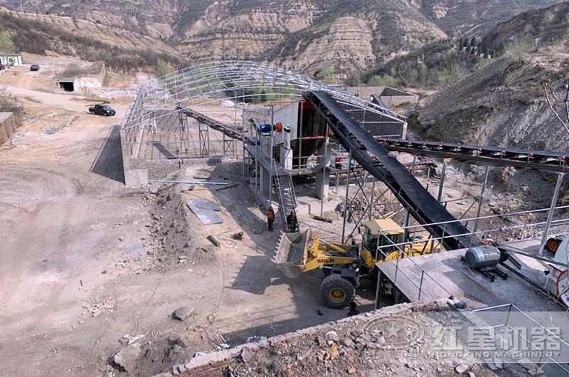 专业厂家砂石料成套加工设备建设现场